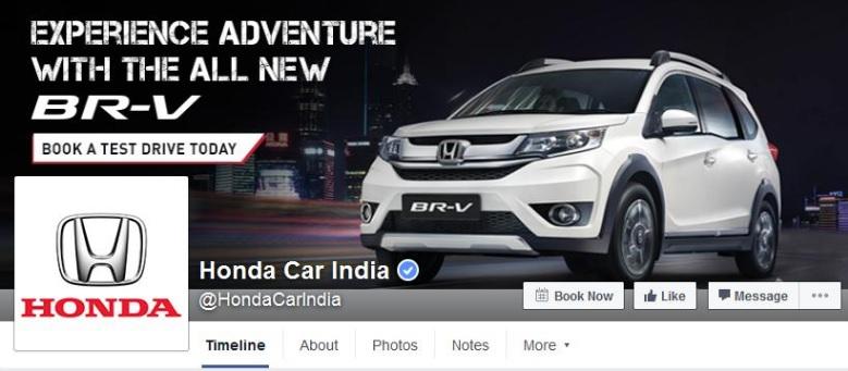 Honda Motors Facebook cover