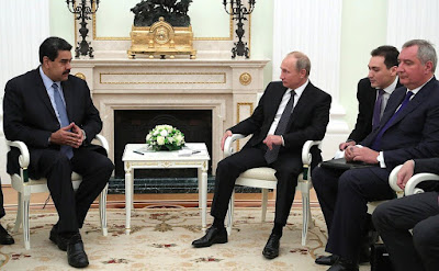Vladimir Putin with President of the Bolivarian Republic of Venezuela Nicolas Maduro in the Kremlin.
