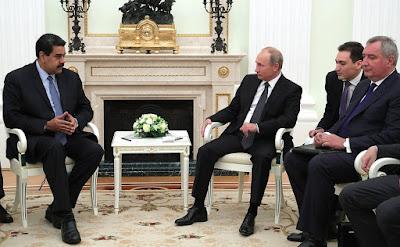 Vladimir Putin with President of the Bolivarian Republic of Venezuela Nicolas Maduro in the Kremlin.