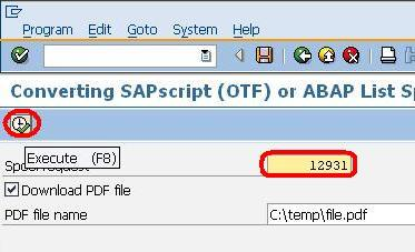 Printing PDF documents through SAP spooler - Tech