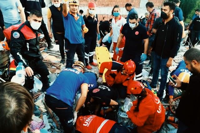 Izmir earthquake زلزال إزمير