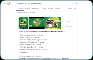 pendaftaran ponpes kempek 2020 2021 aplikasi android