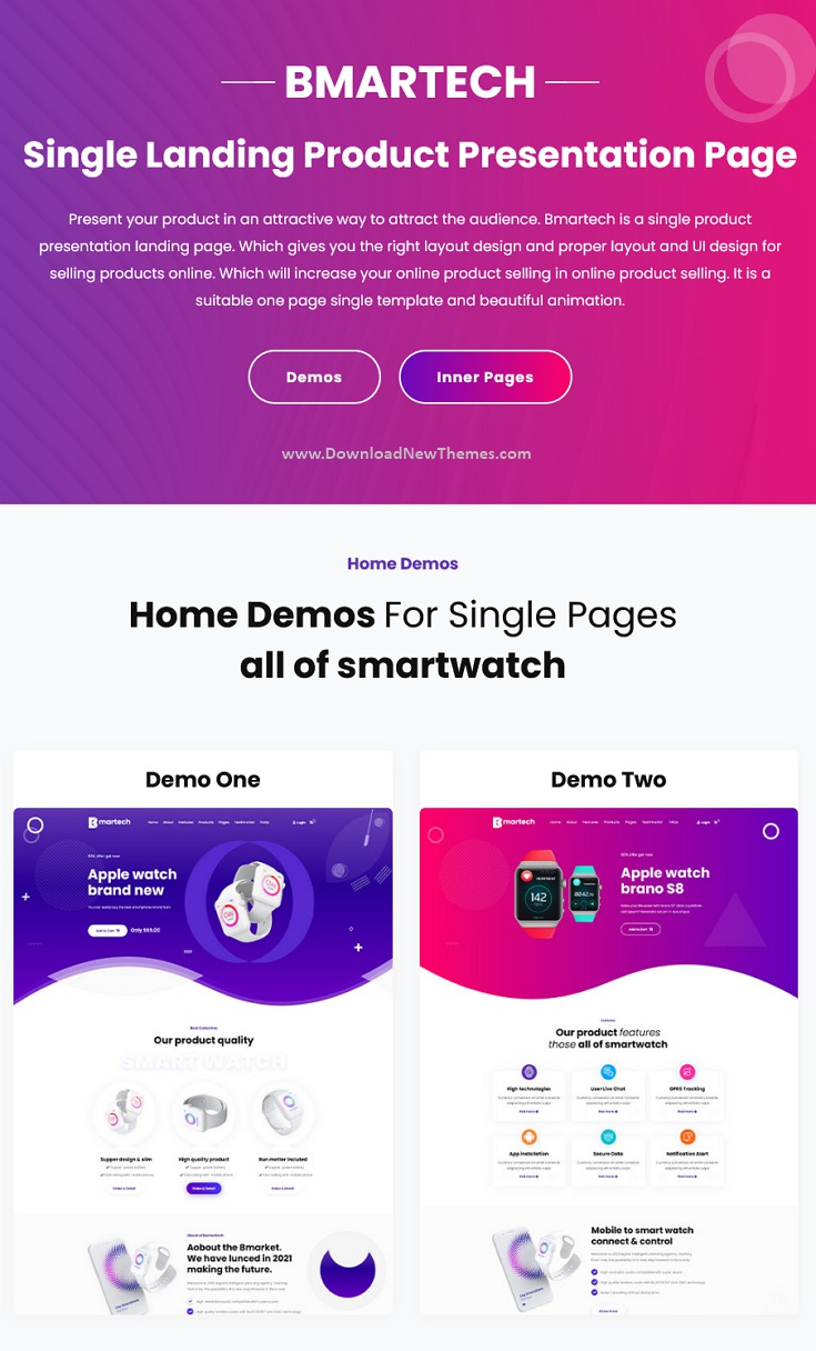 Single Product landing Bootstrap Template