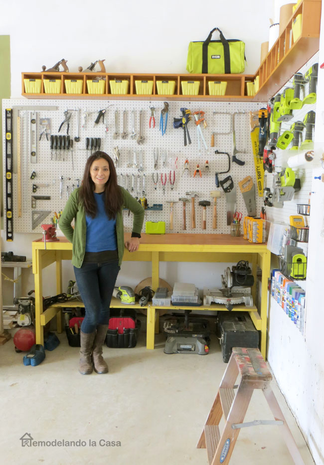 Garage Organization  How to Install a Pegboard  Remodelando la Casa