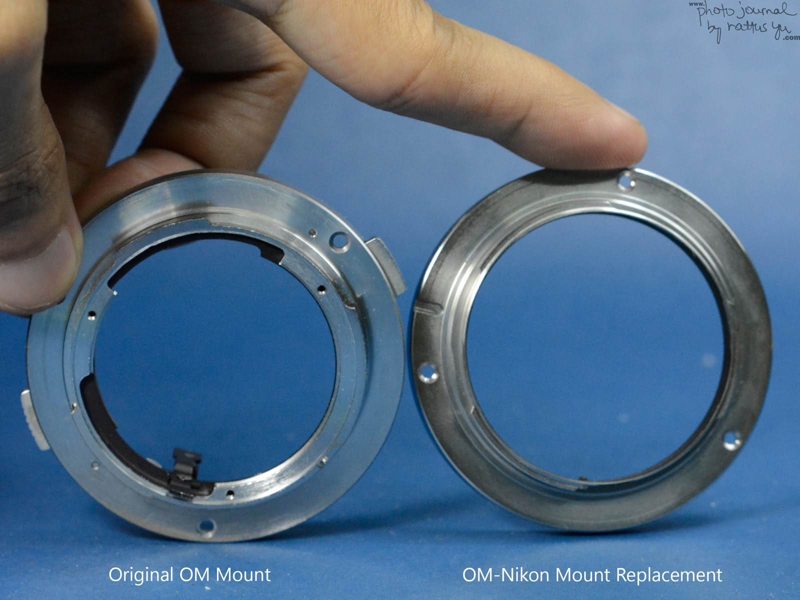 Replacing The OM Mount for a Nikon Mount, Olympus Zuiko 75-150/4