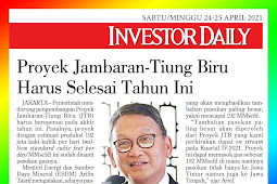 The Jambaran-Tiung Biru Project Must Be Completed This Year