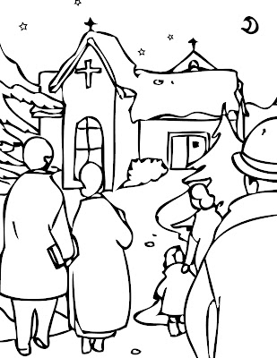Printable Christmas Eve Coloring Pages Realistic