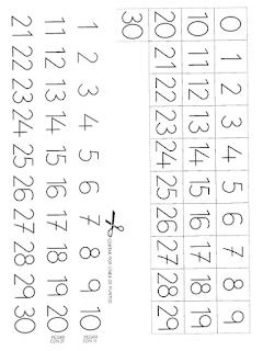 Aprender Es Divertido Fichas Para Imprimir Números Del 1 Al 30
