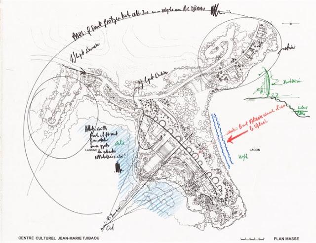 Architettura Contemporanea Renzo Piano Centro Culturale Jean Marie Tjibau Oceanea i grandi maestri dell'architettura disegni