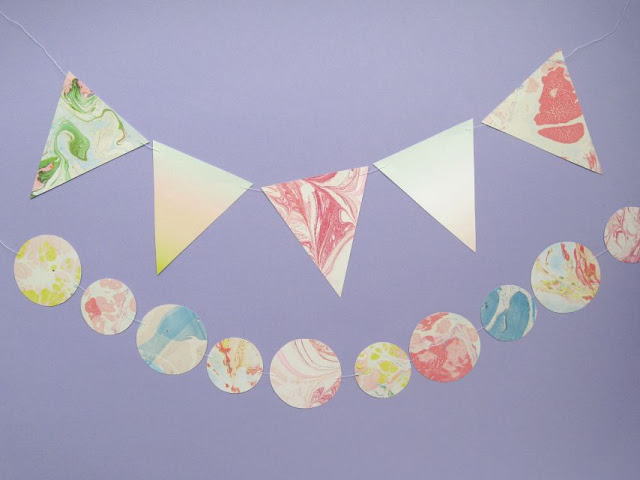 Pretty DIY paper bunting and garlands