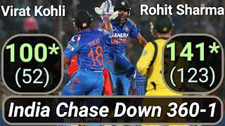 India Chase Down 360-1 - India vs Australia 2nd ODI 2013 Highlights