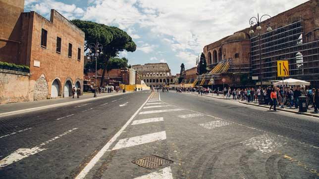 La AP-15 a su paso por Roma