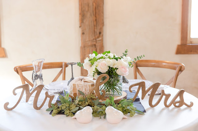 Shenandoah Mill Gilbert, AZ Wedding Table Decor at a sweetheart table by Micah Carling Photography