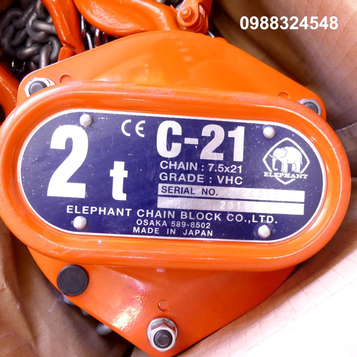 Pa lăng kéo tay Elephant C21-2 2000kg