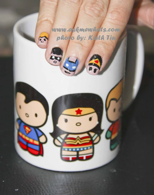 a photo of DC Superheroes Nail Art Tutorial