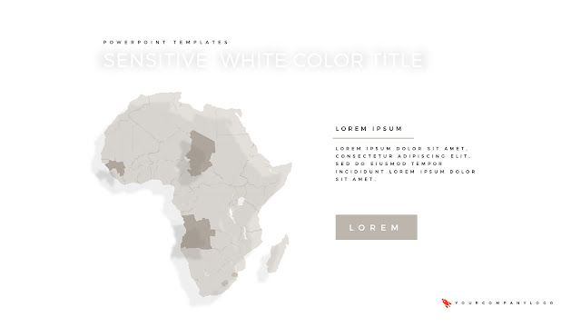 Africa Map of Premium PowerPoint Template with Whit Title