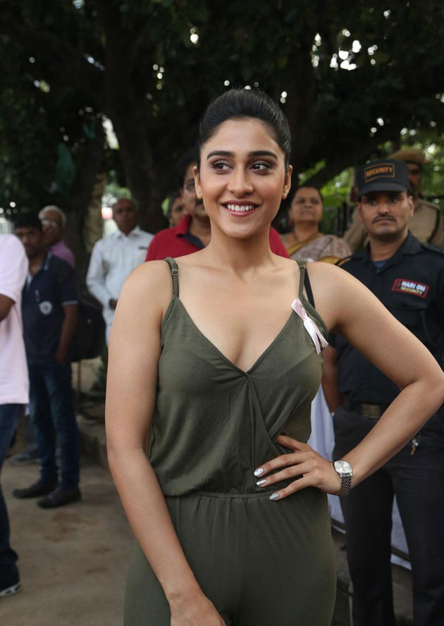 Tollywood Actress Regina Cassandra Stills In Green Top