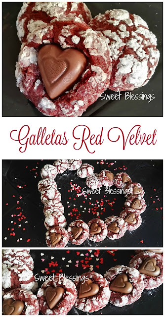 Galletas Red Velvet para San Valentin