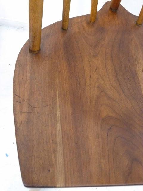 Heywood Wakefield Dowel High Back Mid-Century Doeskin Dining Chairs Blemish 2