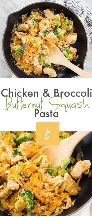 Chicken And Broccoli Butternut Squash Pasta