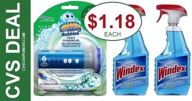 CVS Scrubbing Bubbles & Windex Deal 5-17-5-23