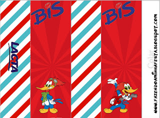 Woody Woodpecker Free Printable Candy Bar Labels.