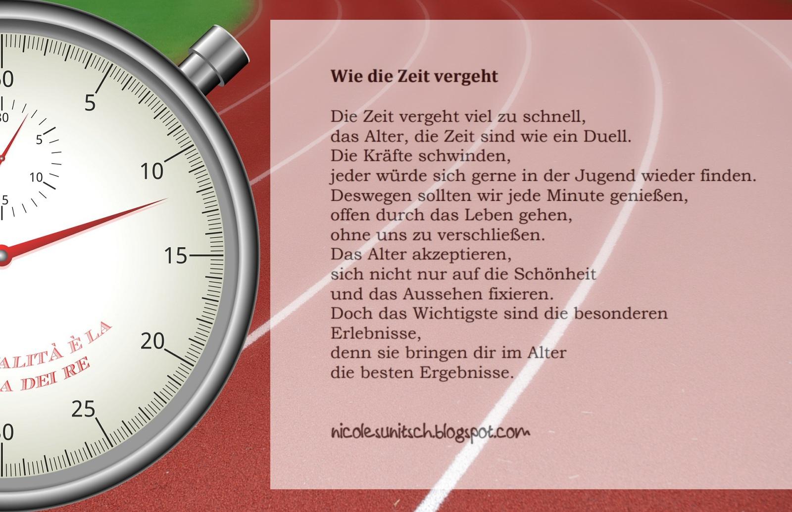 Gedichte Von Nicole Sunitsch Autorin Gedicht Wie Die Zeit