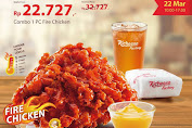 Promo Richeese Factory Harga Spesial Combo 1 PC Fire Chicken Periode 22 Maret 2020