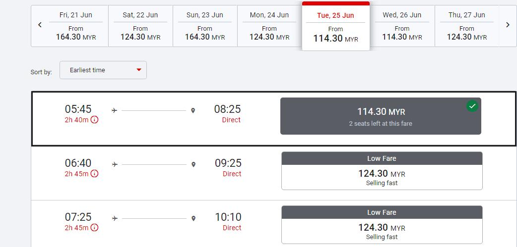 harga tiket penerbangan ke kota kinabalu sabah dari KLIA