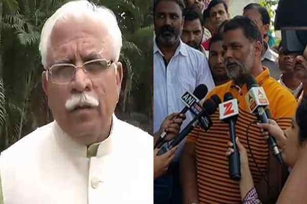 manohar-lal-khattar-in-trouble-by-beating-mp-pappu-yadav