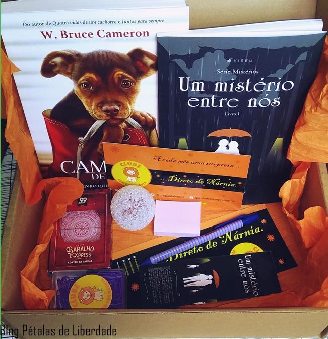 Unboxing, caixa-literaria, Clube-Vem-Pra-Narnia, outubro, livro-animais, blog-literario, video, blog-petalas-de-liberdade,