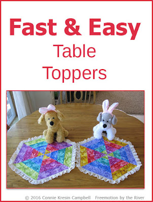Fast and Easy Table Toppers Tutorial by Connie Kresin Campbell
