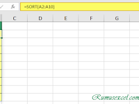 Fungsi SORT, Rumus Excel untuk mengurutkan data di Excel