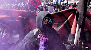 FBI, Homeland Security warn of more 'antifa' attacks Confidential documents call the anarchists that seek to counter white supremacists 'domestic terrorists.'