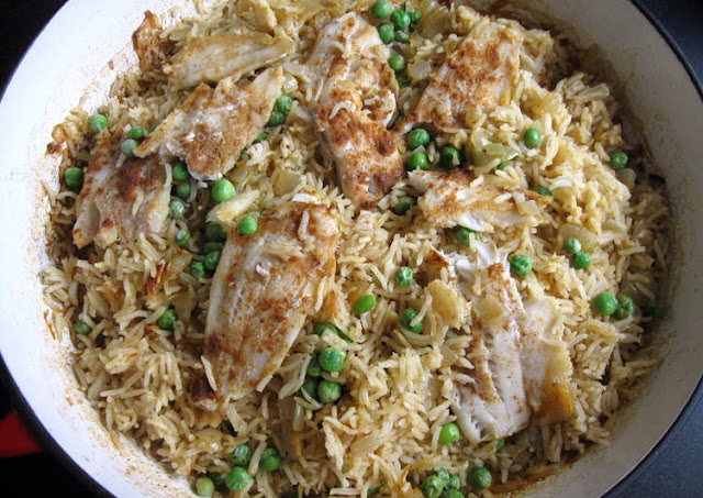 RECIPE OF QUICK OVEN-BAKED FISH CURRY PILAF