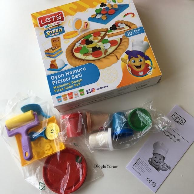 lets oyun hamuru pizzacı seti 1