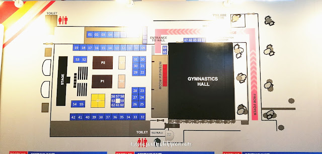 Floor plan; Sabah Job & Entrepreneur Fair 2018 @ Kompleks Sukan Kota Kinabalu (Likas)