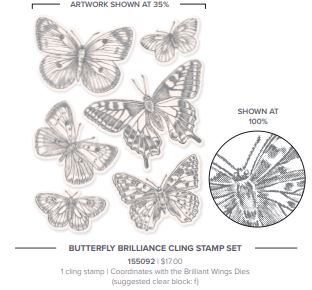 Early-Release product from the Stampin' Up! 2021 Annual Catalog Butterfly Brilliance Stamp Set
