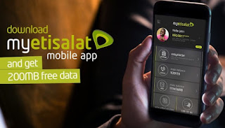 Gift from Etisalat: Get Free 200MB Reward When You Download MyEtisalat Mobile App