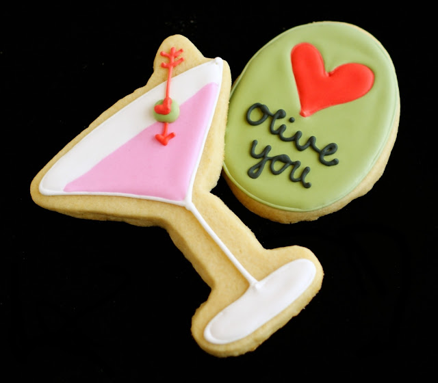Olive you Valentine cookies