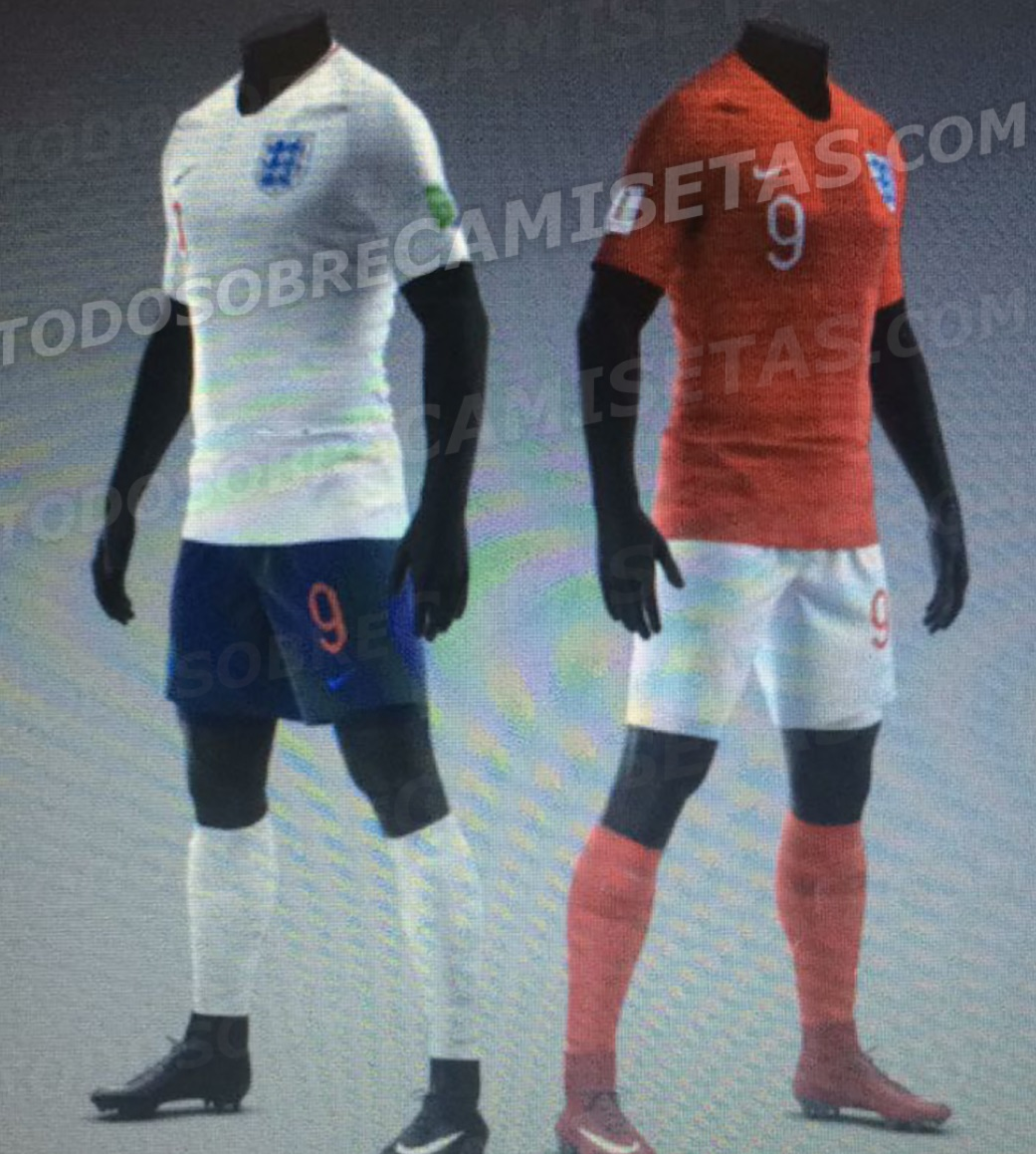 Away kits of England for cup 2018 leaked online