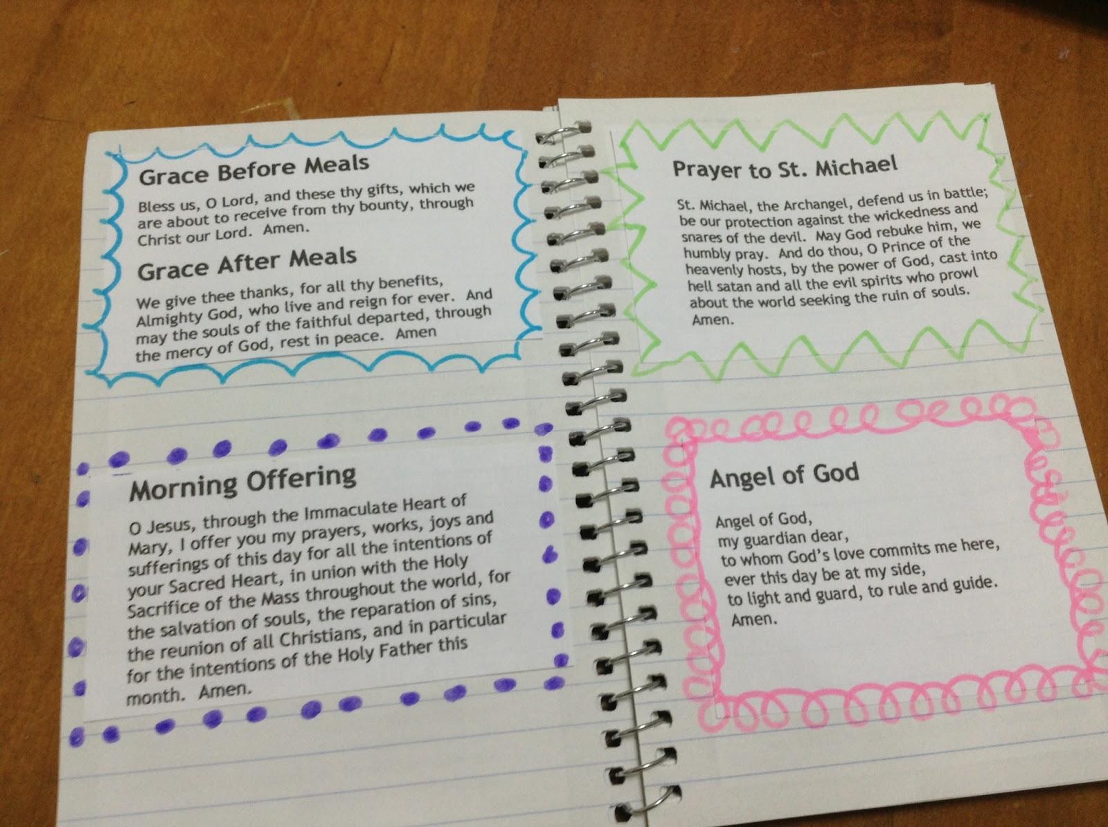 Catholic Prayer Journal Template - Costumepartyrun