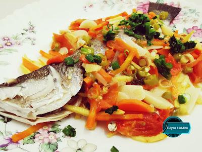 Ikan siakap masak stim