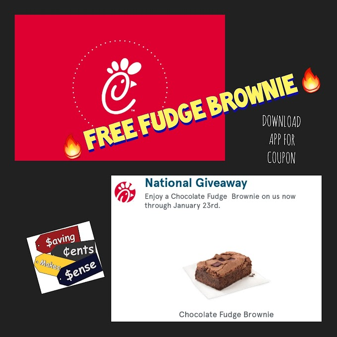 Chick fil A Free Fudge Brownie Coupon