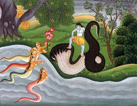Krishna and Vrindavan demons