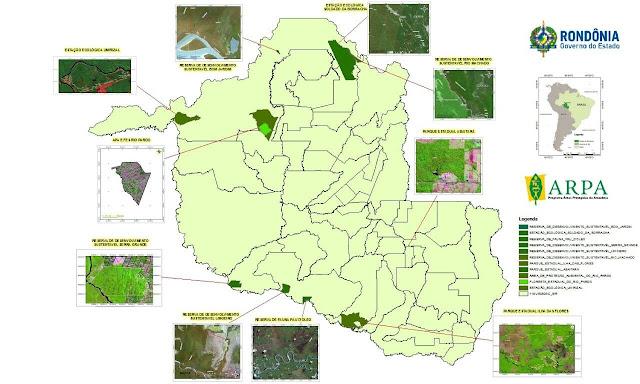 Uma imagem de um mapa com os onze pontos das unidades e pequenas fotos com setas direcionada para os pontos que são os locais