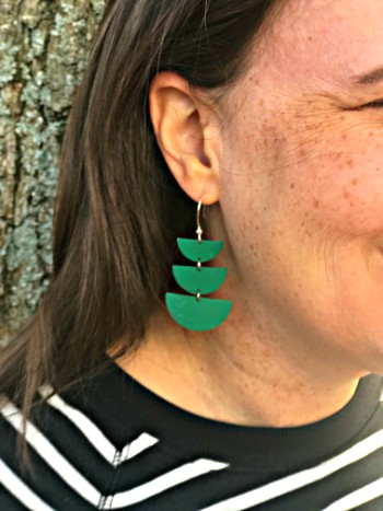 earrings, accessories, leather, sterling silver, diy, arts and crafts, half moons, jewelry