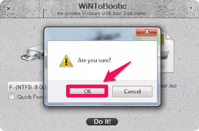 How to Create Bootable Pendrive using WiNToBootic