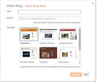 Cara Membuat Blog di Blogspot (blogger.com) Gratis