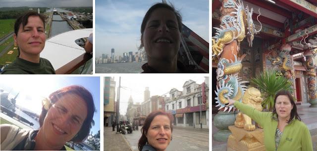 Sinnlose Selfies vor interessantem Hintergrund